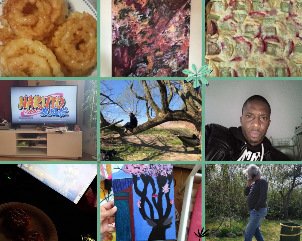 Ein Fotokollage mit Erlebnissen der Teilnehmer während des Corona Lockdowns.