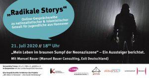 """""""Radikale Stories"""" Banner."""