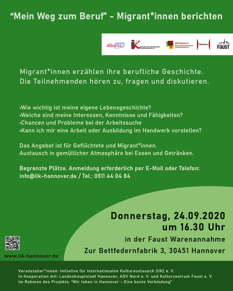 """Orientierungsworkshop 3: """"Mein Weg zum Beruf"""" – Migrant*innen berichten"""