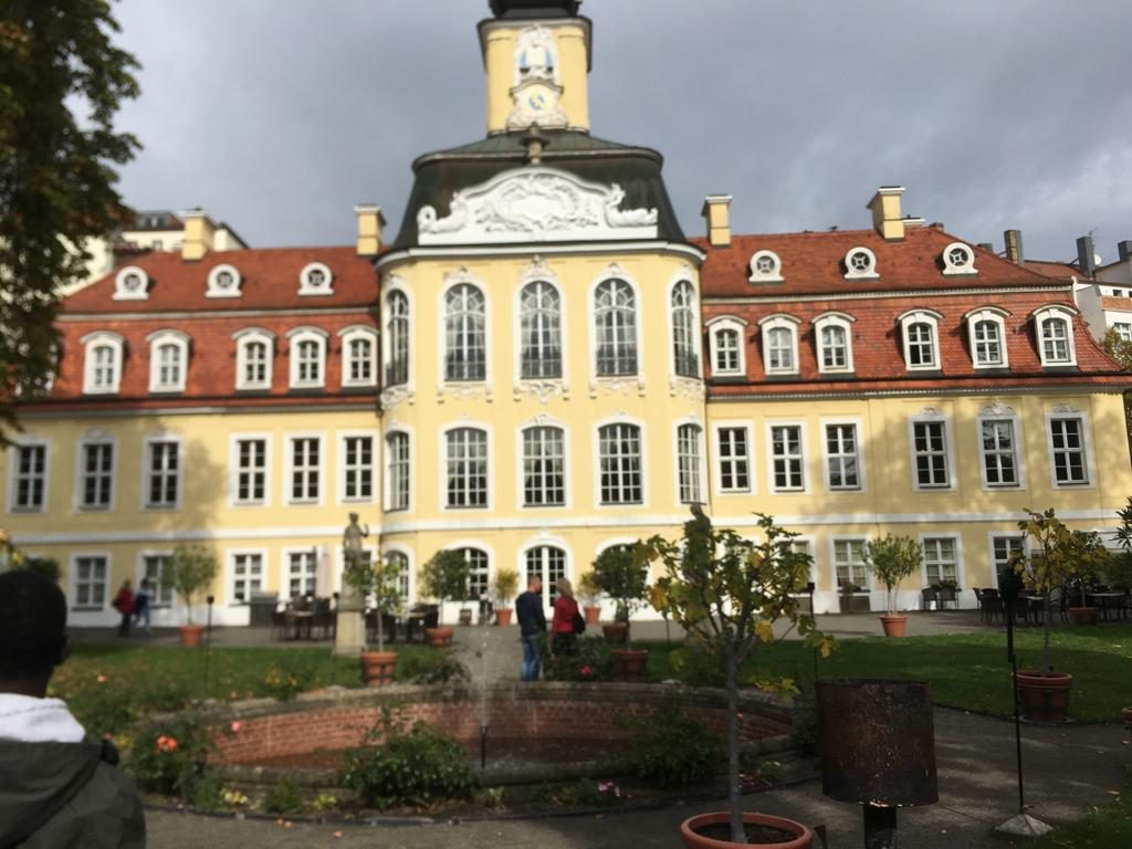 Ein altes Gebäude in Leipzig.