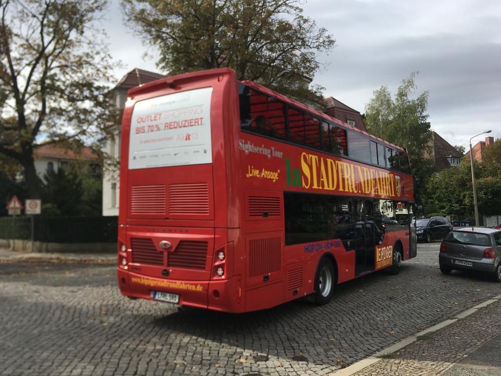 Ein Doppeldeckerbus.