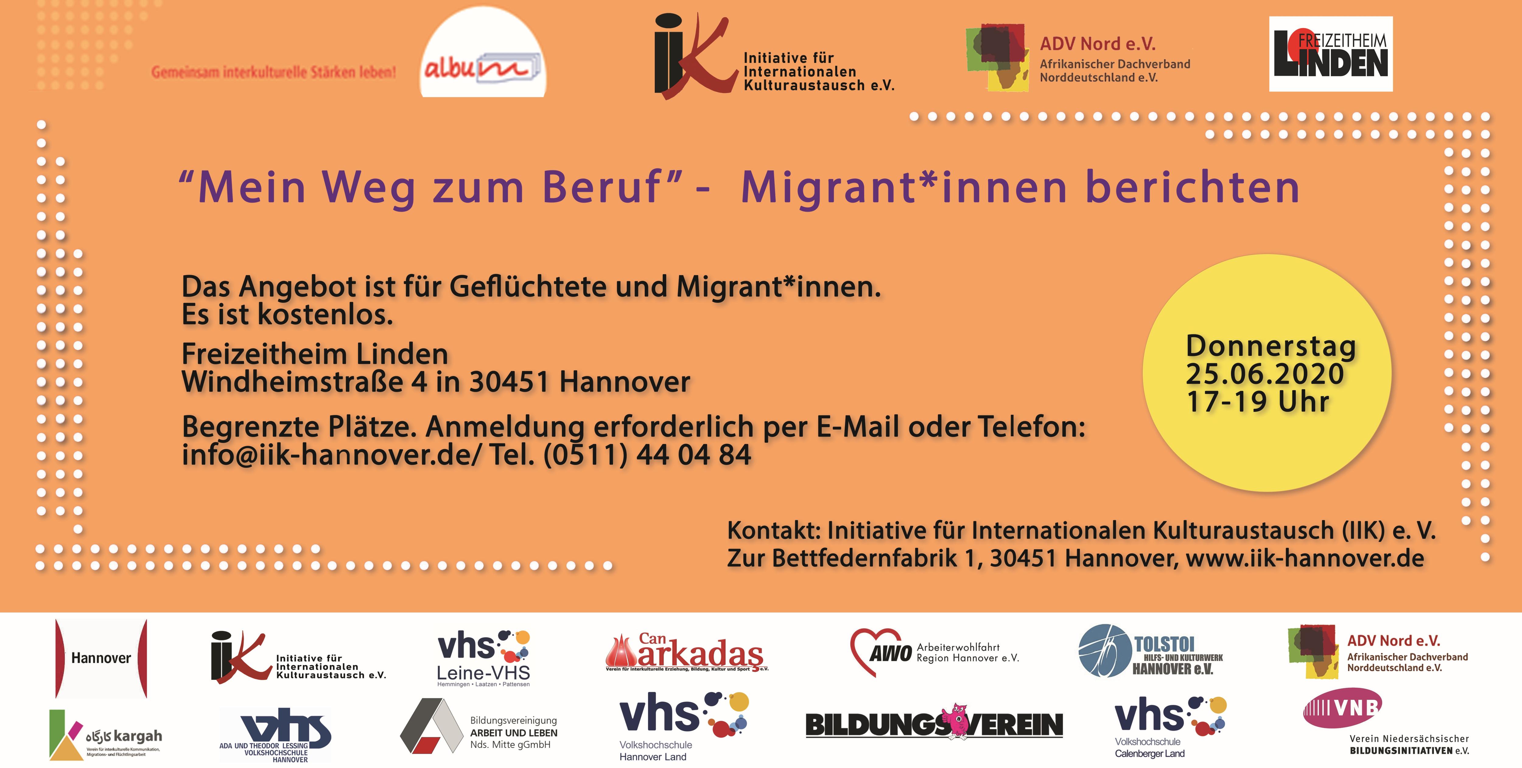 Kostenloser Orientierungsworkshop der IIK für Migrant*innen und Geflüchtete, die eine (neue) Arbeit suchen: